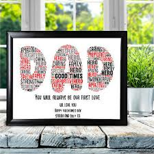 daddy love you gifts dad print keepsake