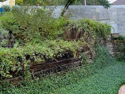 treated railroad ties in landscaping
