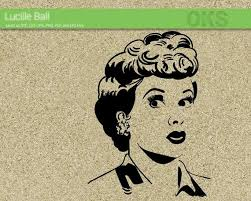 Lucille Ball Svg Download I Love Lucy Clipart Vintage Lady Vector Retro Woman Pdf Lucille Ball Cricut Silhouet Lucille Ball Silhouette Stencil I Love Lucy