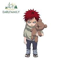 Hot Offer 24317c Earlfamily 13cm X 6 6cm For Child Naruto Gaara Car Stickers Vehicle Bumper Window Scratch Proof Vinyl Car Wrap Trunk Decal Cicig Co