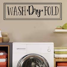 Winston Porter Wash Dry Fold Laundry Room Vinyl Words Wall Decal Wayfair
