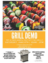 grill demo in byrdstown country farm
