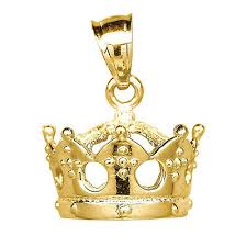 crown pendant 10k solid yellow gold