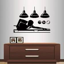 Amazon Com In Style Decals Wall Vinyl Decal Home Decor Art Sticker Billiards Snooker Player Balls Club Sport Room Removable Stylish Mural Unique Design 2109 Home Kitchen