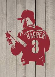 Bryce Harper Philadelphia Phillies Baseball Vinyl Wall Decal Etsy