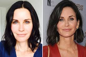 courteney goes makeup free as she s