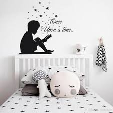 Reading Boy Wall Decal Once Upon A Time Vinyl Wall Stickers Lover Quote Decals Book Corner School Home Decoration For Wall Sticker For Wall Sticker For Wall Decoration From Joystickers 14 2 Dhgate Com