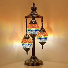 globe egg shaped mosaic table lamp