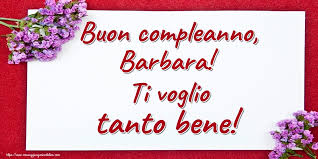 Cartoline con nome Barbara di auguri | cartolineconnomi.com