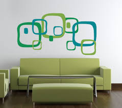 Retro Squares Beautiful Wall Decals