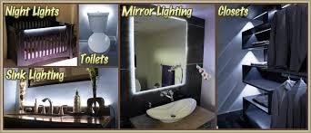 bath tub sink mirror led strip lighting