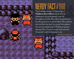 NERDY FACTS — Nerdy Fact #1888: The Pokédex entries for Slowpoke...