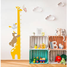 Cartoon Animal Bear Giraffe Height Chart Wall Stikcers For Kids Nursery Home Height Ruler Wall Stickers Height Decoration T200421 Kids Wall Art Stickers Kids Wall Decal From Chao10 27 77 Dhgate Com