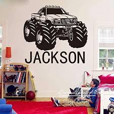Amazon Com Andre Shop Personalized Monster Truck Decal Custom Off Road Car Vehicle Name Wall Decal Sticker Vinyl Boy Name Sport Theme Custom Color Home Kitchen