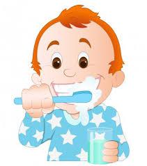 Biblioteca de vetores Criança escovando dentes, ilustrações ...