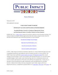 Press Release - Opportunity Culture Charter School Network