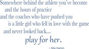 Mia Hamm Wall Quote Mia Hamm Quotes Vinyl Stickers