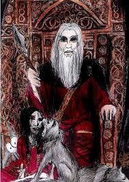 Allfather Odin Mixed Media by Dolly Smith