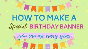easy diy felt birthday banner