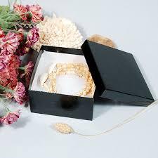 black glossy jewelry bo