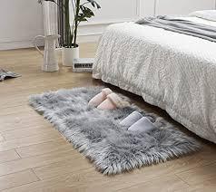 leevan rectangle sheepskin rugs