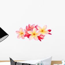 Frangipani Plumeria Tropical Flowers Wall Decal Wallmonkeys Com