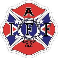 Rebel Flag Iaff International Association Firefighters Maltese Vinyl Sticker At Sticker Shoppe