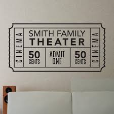Personalized Family Movie Ticket Decal Shop Decals From Dana Decals