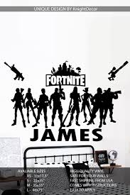 This Personalized Name Fortnite Wall Decal Comes In Multiple Sizes And Would Look Great In Any Bedr Wall Sticker Design Custom Wall Decal Wall Decals