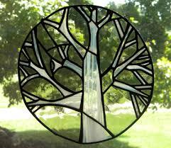 stained glass suncatcher tree arts