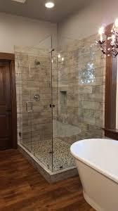 frameless heavy glass shower doors