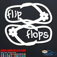 Hawaiian Flip Flops Car Window Vinyl Decal Sticker