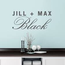 Custom Couple Name Wall Decal Name Wall Decals Custom Wall Decals Personalized Wall Decals