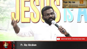 Word of God Shared by Pr. Aby Abraham - YouTube