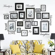 Set Of 12 Family Quote Words Vinyl Wall Sticker Picture Frame Wall Family Room Art Decoration 1332 Matte Black Amazon Com