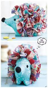 diy fabric hedgehog toy free sewing
