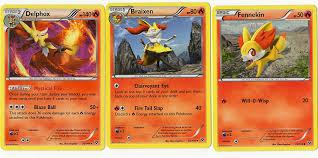 Amazon.com: Pokemon Evolution Set - DELPHOX BRAIXEN Fennekin - 26/146 XY  Base Set - Rare Card LOT: Toys & Games