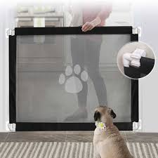 Pet Dog Cat Paw Print Door Fence Isolation Net Portable Assembly Safety Protection Fence Pet Accessories Dog Doors Ramps Aliexpress