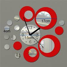 Creative Diy Acrylic Clock Design Clock Mirror 3d Wall Decal Sticker Love And Circle Style Living Room Decoration Art Wall Clock Sticker Home