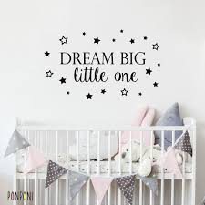 Dream Big Wall Decal Nursery Decal Quote Decal Kids Quotes Etsy
