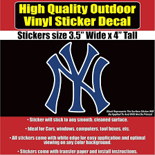 New York Yankees Vinyl Car Window Laptop Bumper Sticker Decal Bumper Stickers Car Stickers Car Decals Stickers