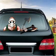 Sunsky Mask Killer Axe Pattern Horror Series Car Rear Windshield Window Wiper Self Adhesive Decorative Sticker