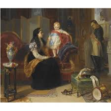 First interview of the divorced Empress Josephine with the King of Rome by  Henrietta May Ada Ward on artnet