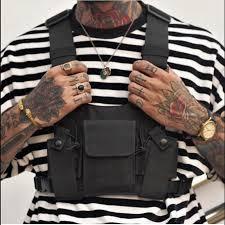 oxford chest rig bag functional hip hop