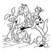 Kleurplaat Winnie De Pooh Disney 1705