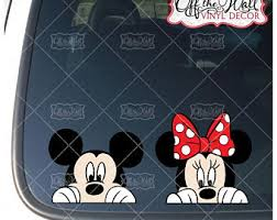 Peeking Mickey Decal Etsy