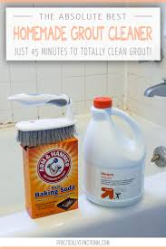 clean grout with a homemade grout cleaner