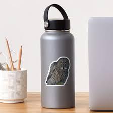 Great Gray Owl Portrait Ii Sticker By Ravenprints Redbubble