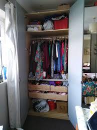 double ikea wardrobe with mirror doors