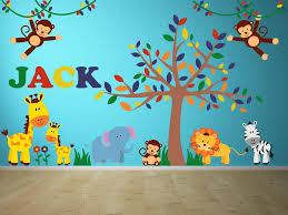 Jungle Room Animal Nursery Wall Decals Yendo Print